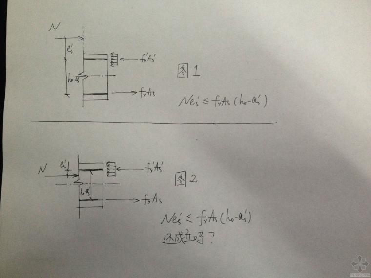 大偏心受压柱,受压区高度x<2a'的问题