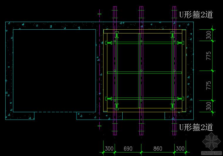 电梯井道操作平台脚手架的布置