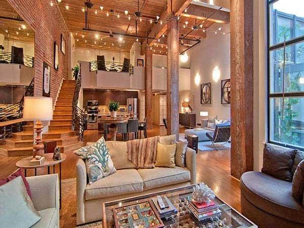 乡村风情砖头公寓室内装修设计效果图