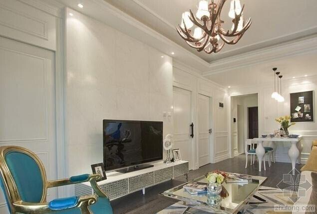 客厅瓷砖背景墙 唯美风格增添丰彩