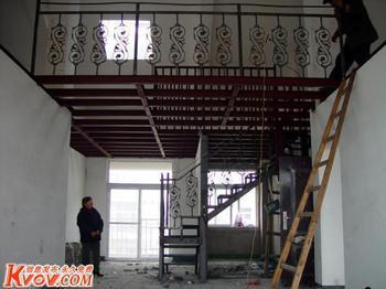 北京怀柔区室内做陶粒混泥土阁楼夹层钢结构二层搭建阳台改造扩建