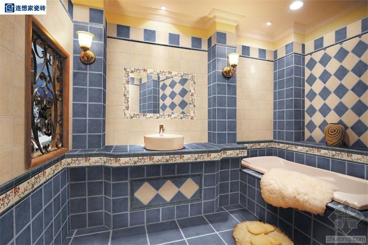 四个大理石瓷砖的搭配风格