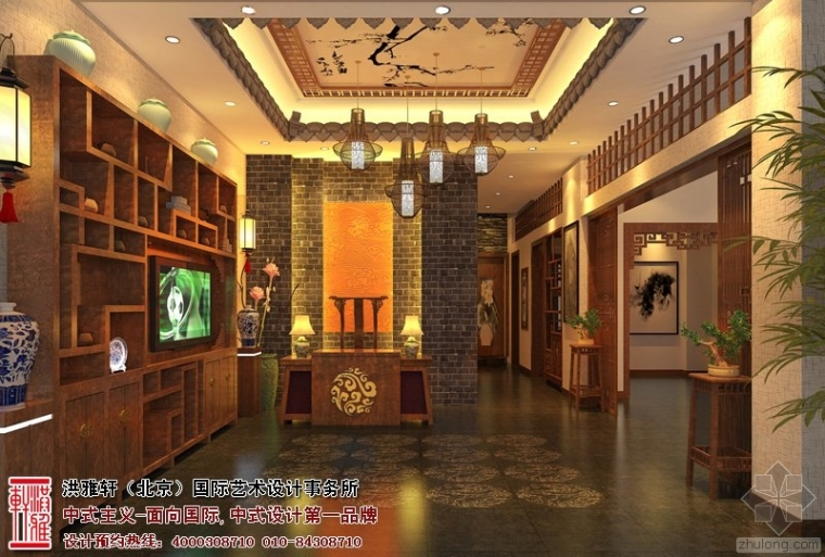 漯河茶楼中式装修 清幽华丽不失个性