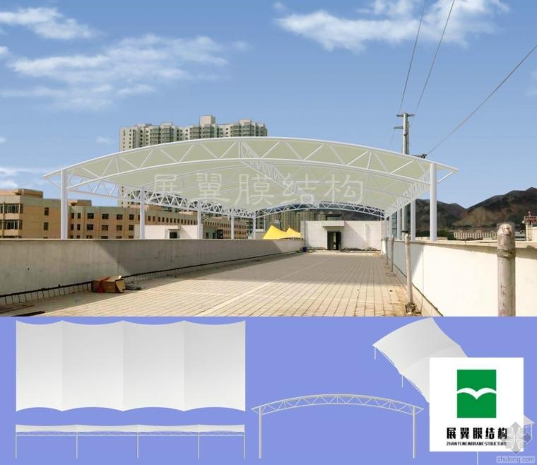 天井膜结构屋顶阳雨棚设计