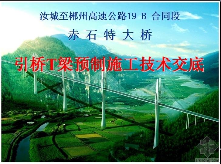 赤石特大桥引桥T梁预制施工技术交底