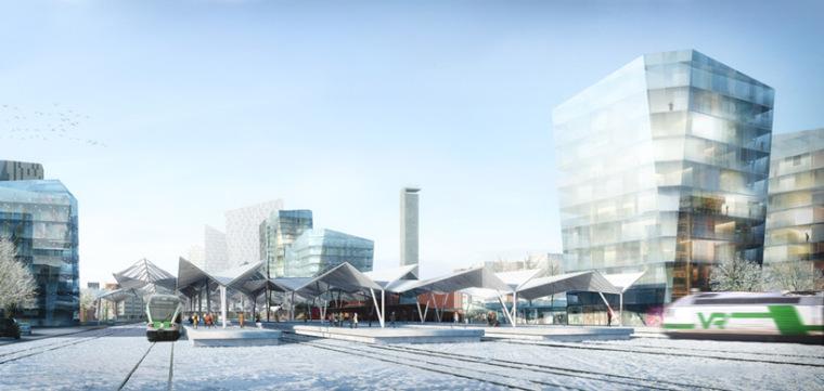 AZPML建筑事务所设计的坦佩雷市旅游服务中心竞标方案
