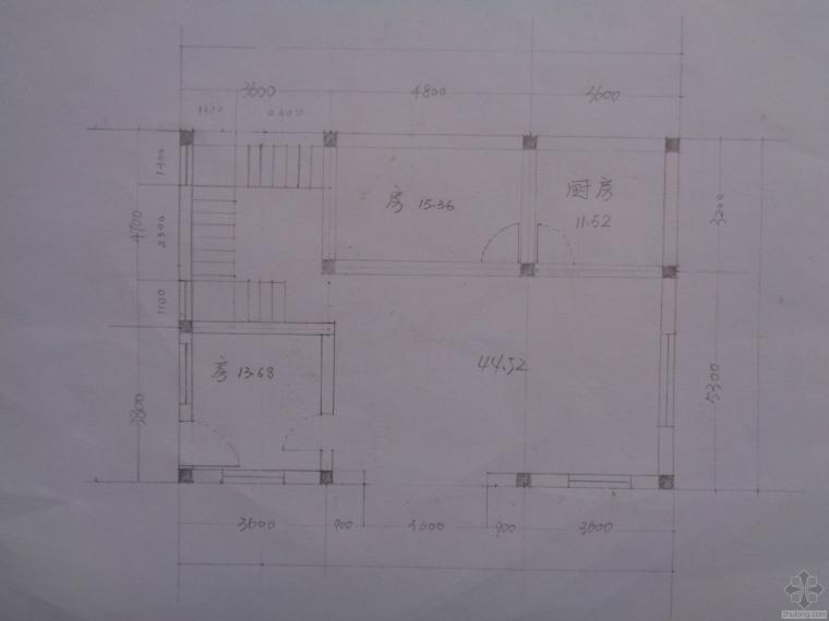 农村自建房三层设计图,多谢指教