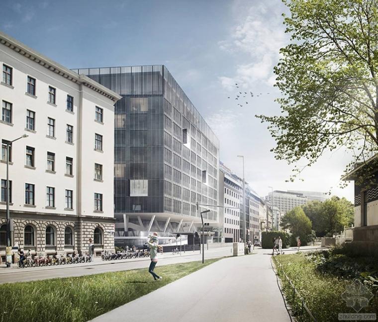 U楼梯资料下载-alber+grandits设计的T.U.维也纳建筑学校宿舍概念设计