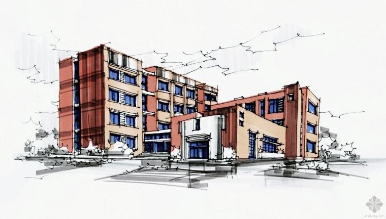 建筑快题设计案例-小学校快速设计