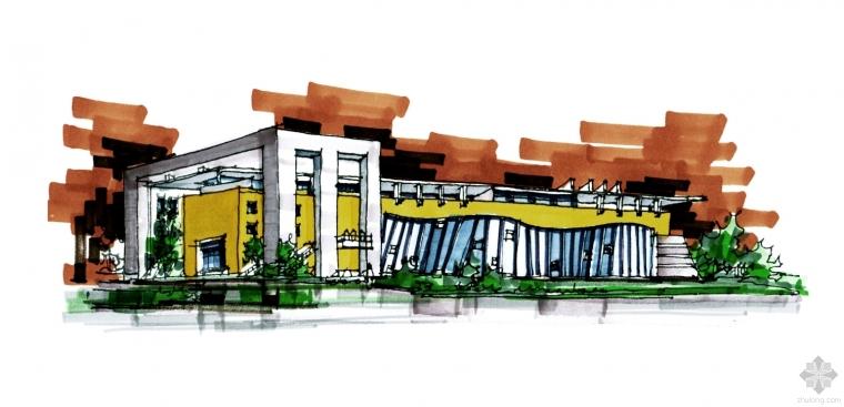 建筑快题设计案例-商务酒店快速设计