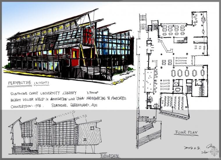 建筑快题设计案例-图书馆学习笔记