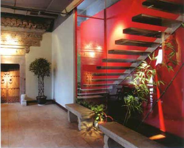 带有地方特色的茶楼古典装修中空间的围合