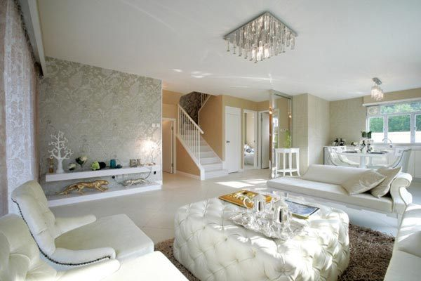 简约欧式风格装修常用于宽敞的大房子中,以别墅装修最为流行,下面这张