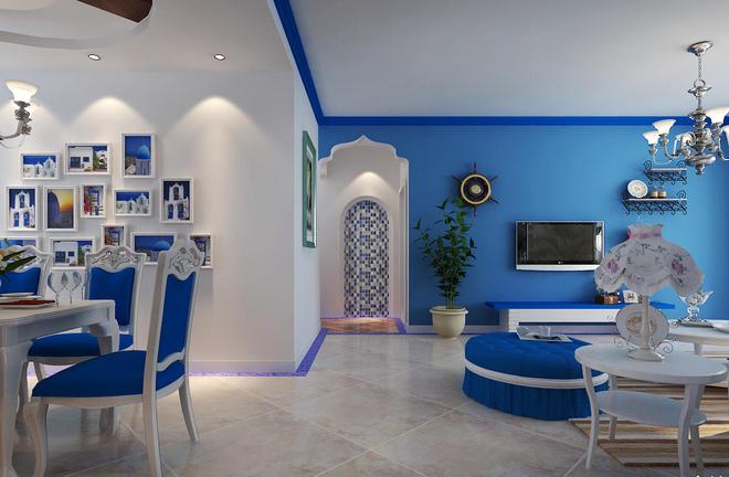 海洋蓝 展现地中海风格的别墅设计之美