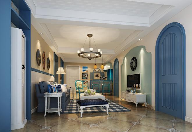 天空蓝 且看这属于地中海风格的别墅设计风采