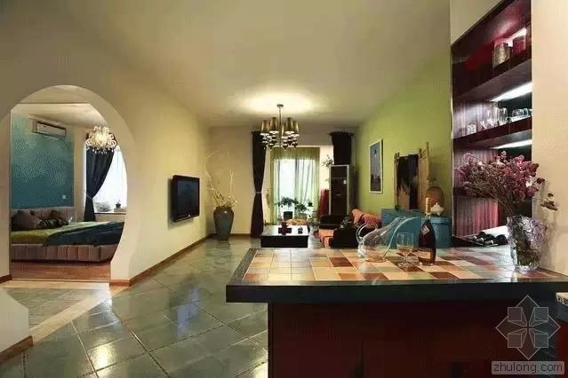 70平米两室一厅混搭风装修
