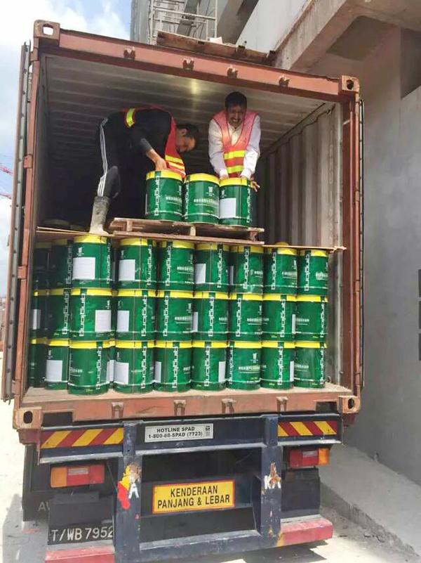 青龙防水材料出口马来西亚,拓展国际市场彰显品牌实力