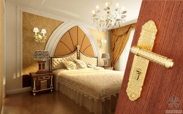 欧式贵族床资料下载-简欧装修风格设计,细节彰显典雅高贵