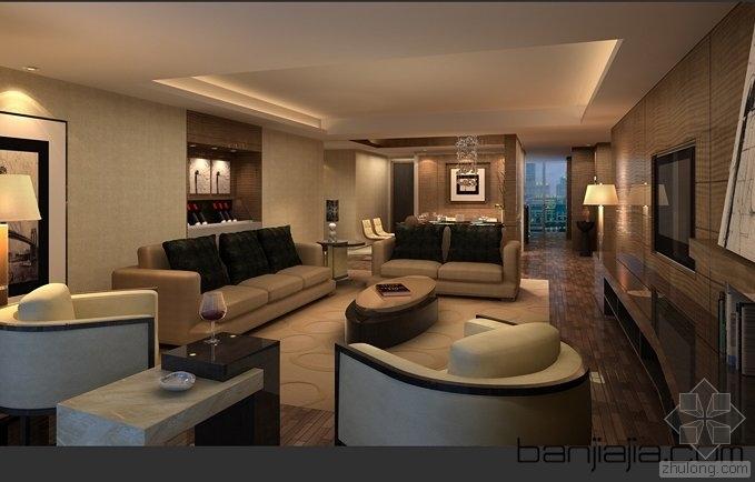 葛乔治设计著名样板房整套方案硬装软装CAD+效果图
