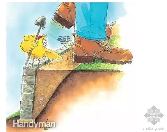 漫画小鸡教你如何砌筑完美挡土墙