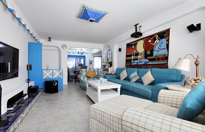 纯白色 拥抱圣洁的地中海风格别墅室内设计