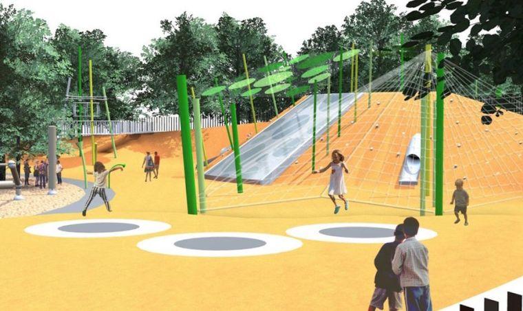 新西兰地震后的游乐场重建,小学生也参与设计了