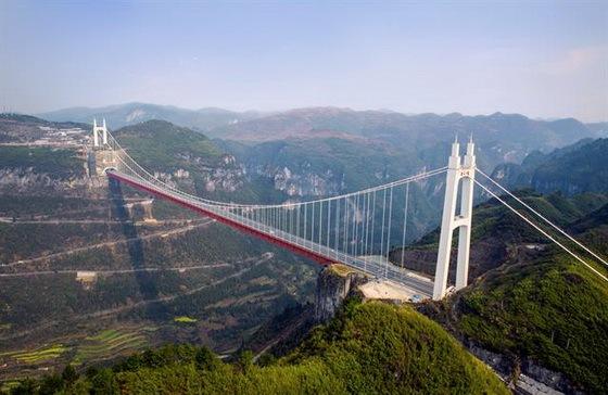矮寨特大悬索桥施工动画,全方位解析五大世界级施工方案