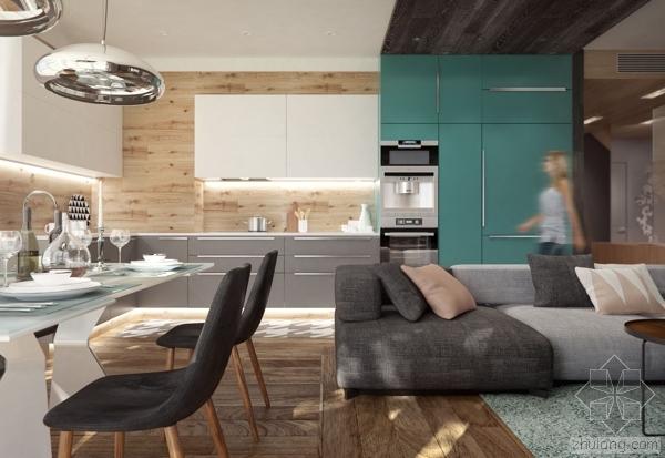 莫斯科200平米精致两层住宅设计欣赏