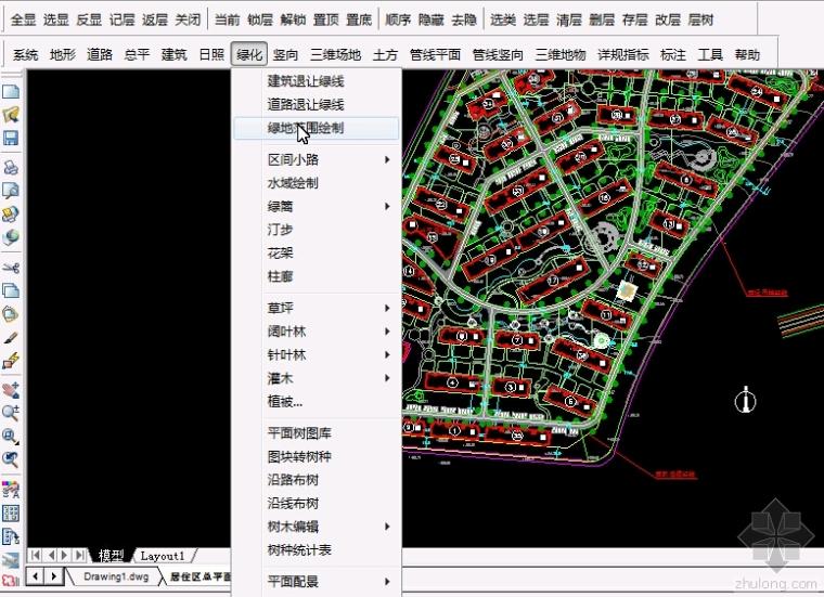 修建详规规划设计软件GPCADX V3--绿化设计视频演示教程