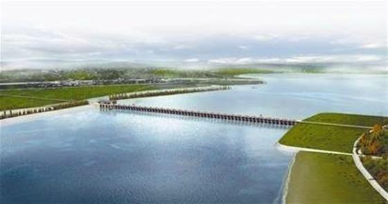 搭起通向农田水利施工的五彩桥