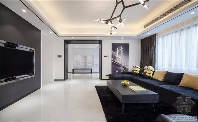 145㎡三室两厅,演绎无法取代的经典黑白格调