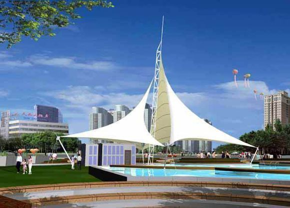 园林景观设计新方案-----景观膜结构建筑