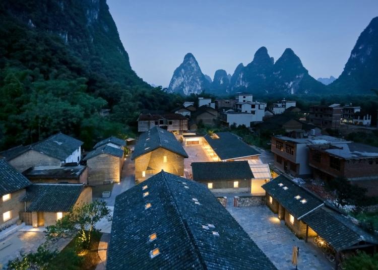 中国阳朔:一组废弃的农家房子被改造成了精品度假酒店