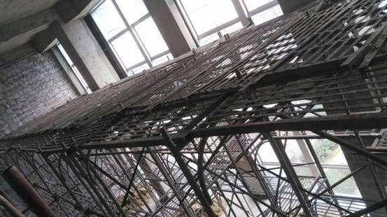 長沙五凌路與新韶東路電力集團內墻施工滿堂腳手架搭設
