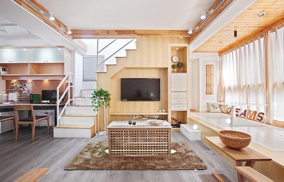 """[室内设计]如何让70㎡小房摇身变""""别墅""""?全靠设计!"""