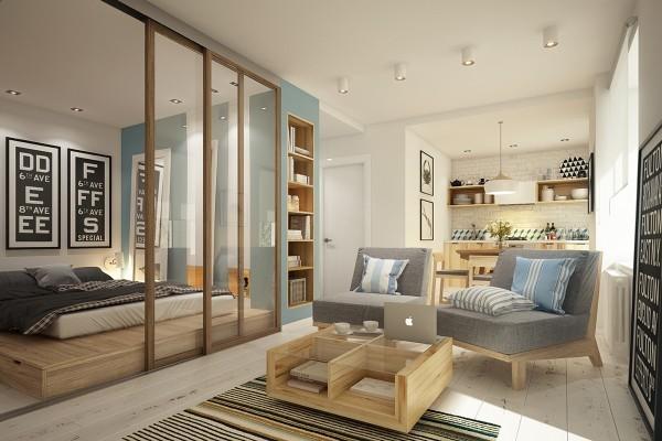 上班族最爱单身公寓,45㎡日式一居