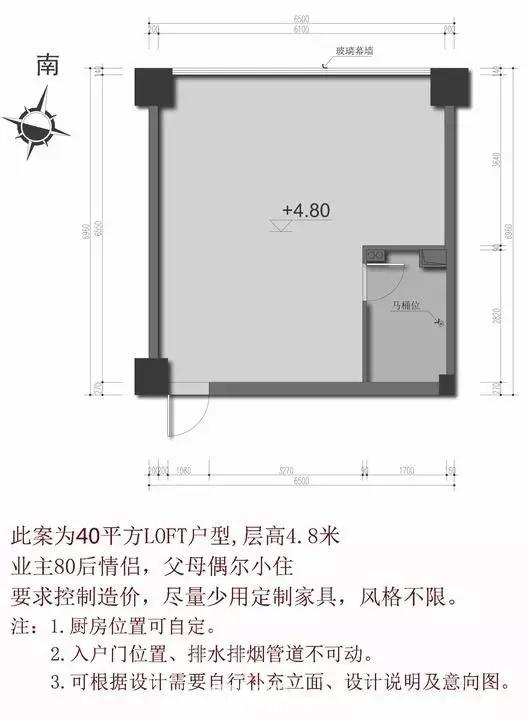 40平米LOFT户型的多套方案!