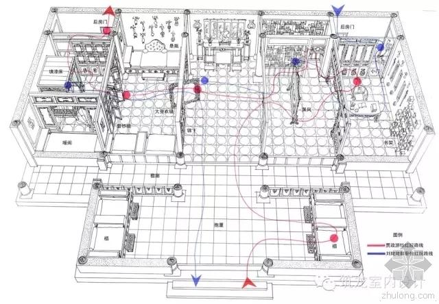 红楼梦全套手绘图建筑+室内+景观