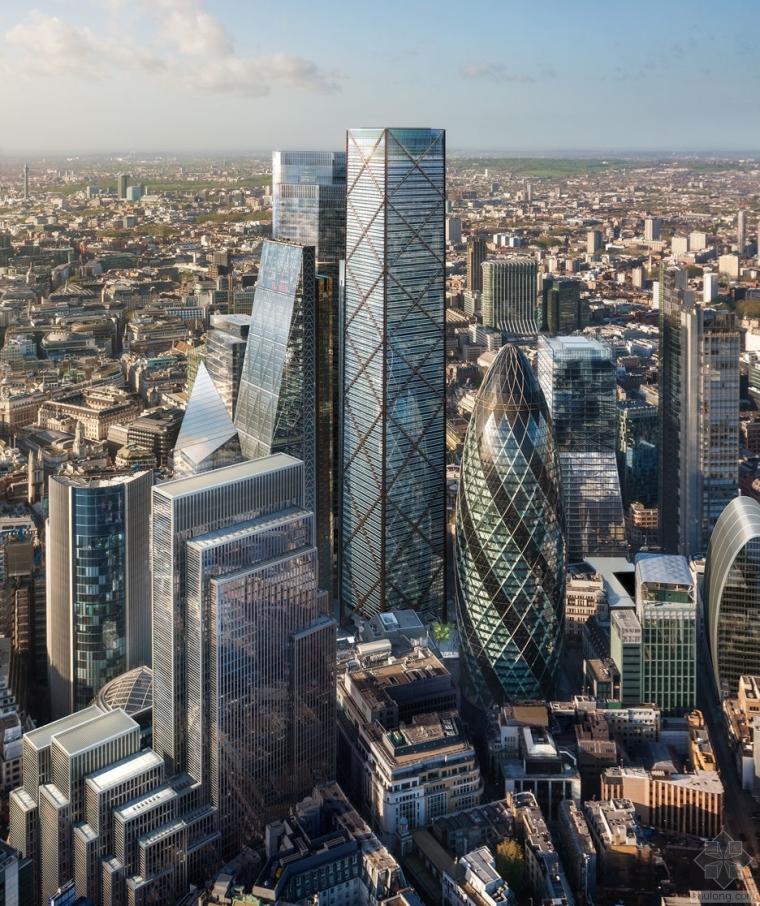 """在""""奇奇怪怪""""建筑风靡时,伦敦的第二高楼朴实的珍贵"""