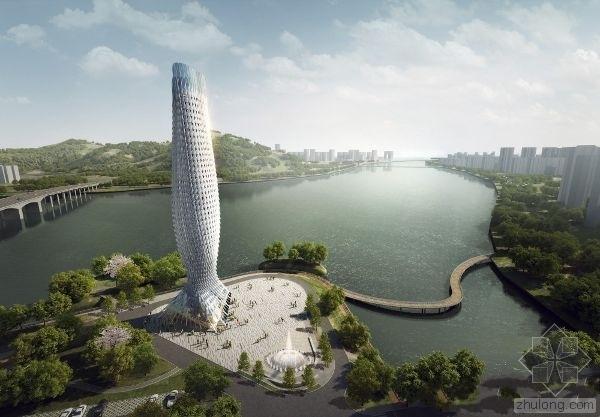 中国广东省鳞片景观塔建筑设计案例分析