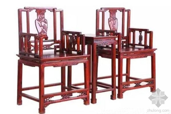 中式设计客厅内红木家具 玫瑰椅美艳而不矫柔