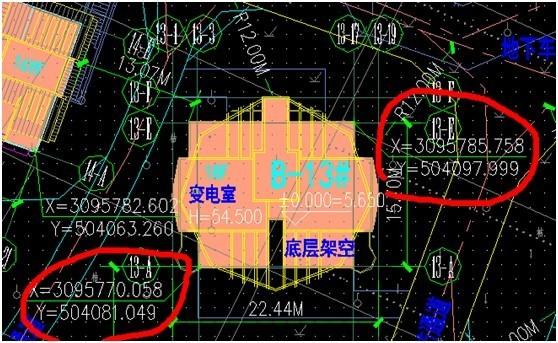 施工总平面图与各楼图纸之间坐标的灵活转换!