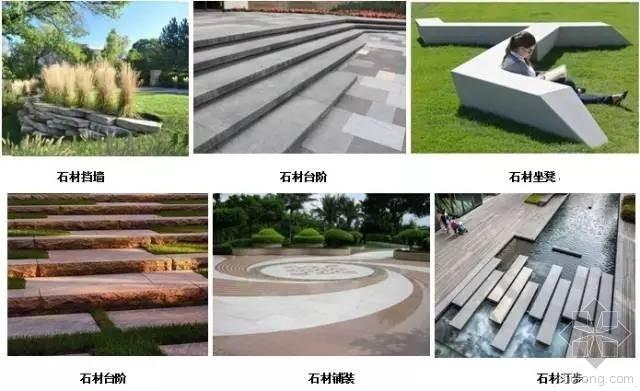 施工图设计扫盲:最全最细景观石材面层尺寸