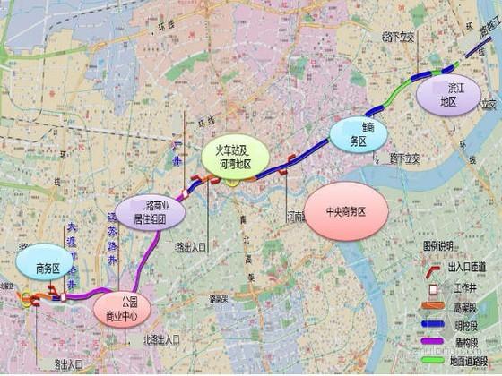 [上海]全长19.4km城市主干路地面、地下及少量高架组合形式通道工程可行性研究报告336页