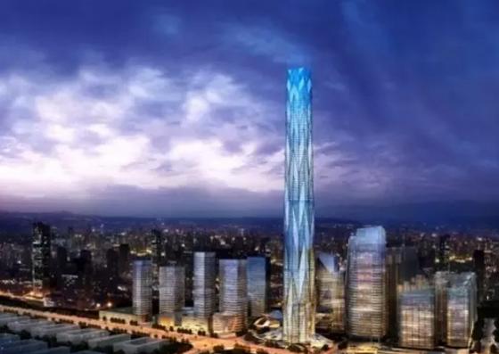 BIM助西部第一高楼成都绿地中心468