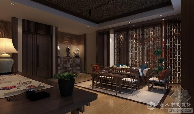 新中式设计书房装饰画 挂出来的东方美