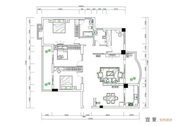 一份完整的室内设计方案包括那些图纸资料
