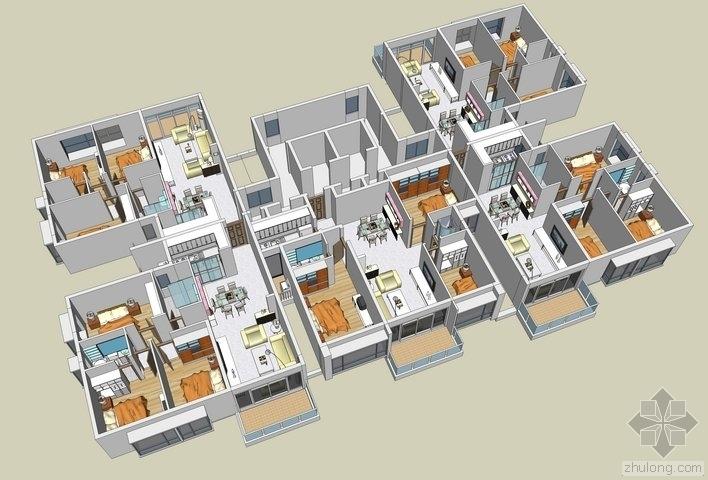 住宅户型的合理尺度(经济型、舒适型、享受型)