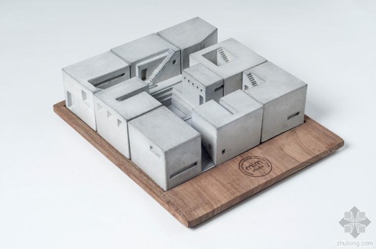 微缩混凝土建筑模型