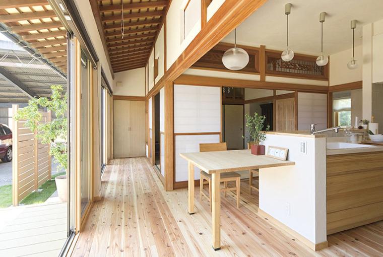 日本:传统老屋变身开放式的家